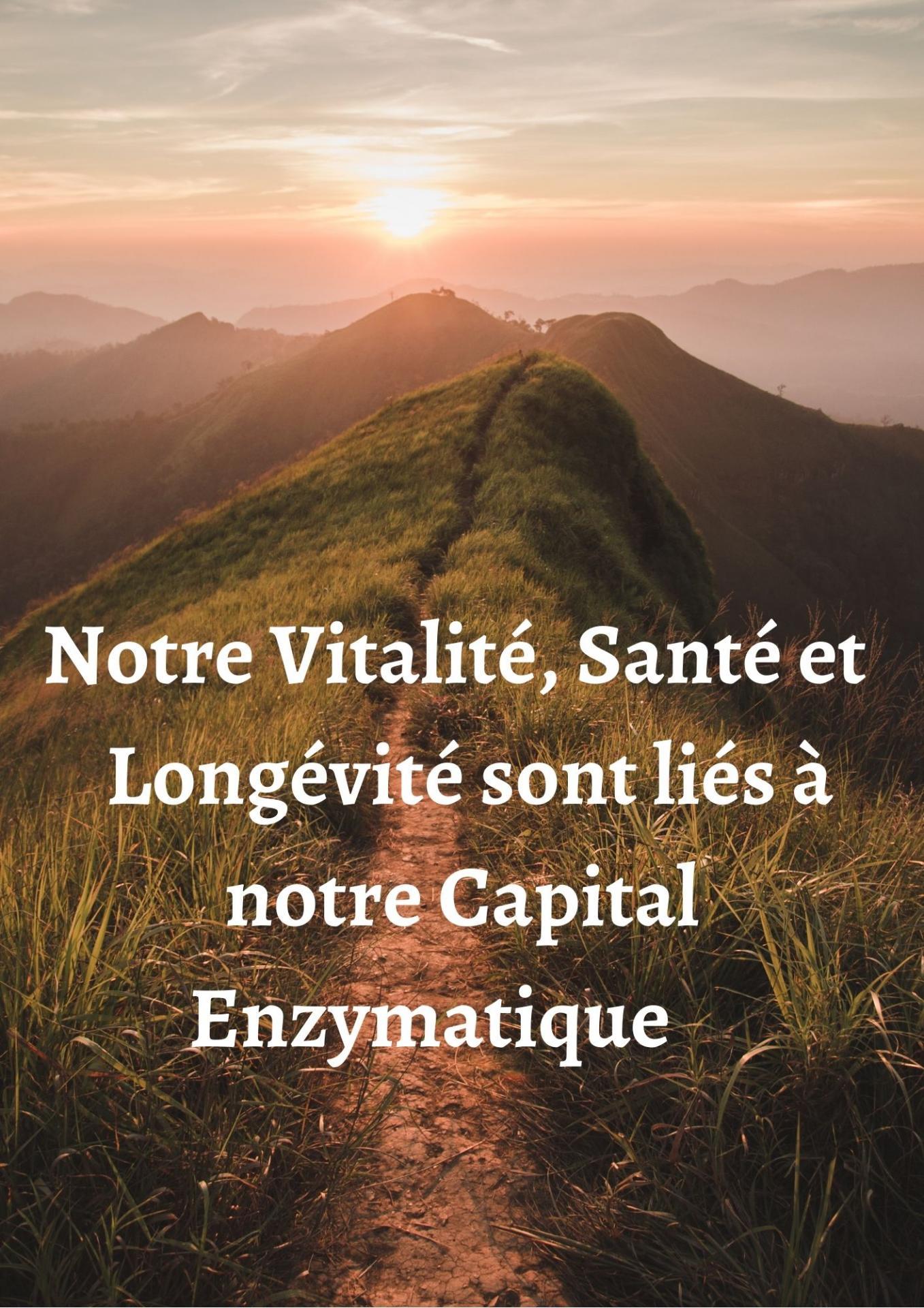 Notre vitalite sante et longe vite sont lie s a notre capital enzymatique 1